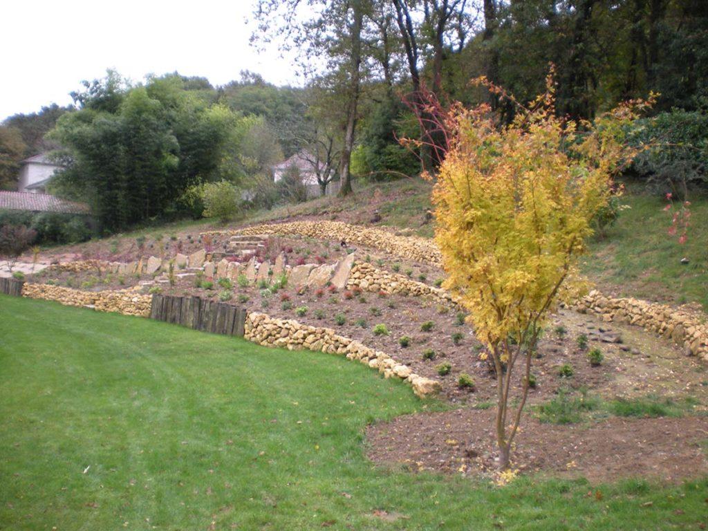 les jardins d 39 alain am nagement de d nivel s de jardins par alain rigaux. Black Bedroom Furniture Sets. Home Design Ideas