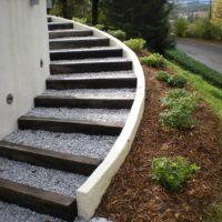 Escalier Gravier et Bois