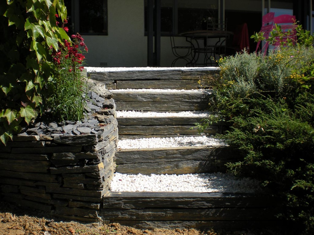 Escalier Jardin Bois - Fashion Designs