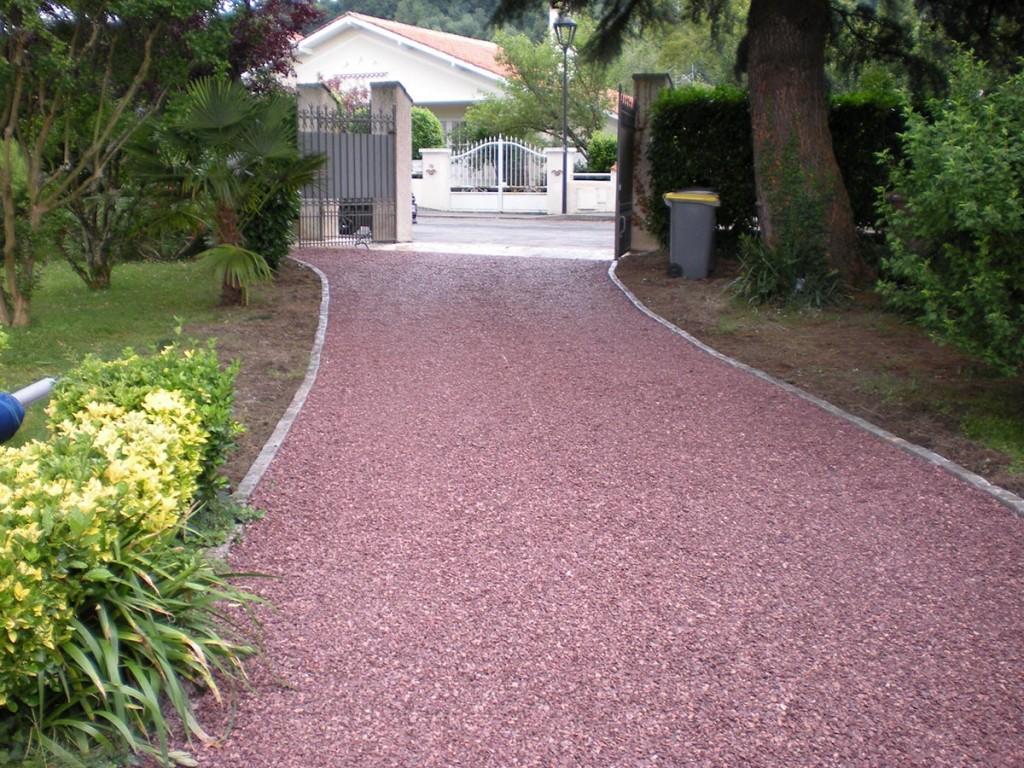Cour Gravier destiné les jardins d'alain | aménagement des accès et des entrées de