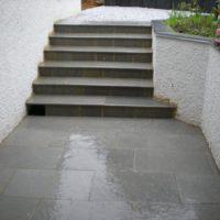 Escalier en Gres Vert/Gris