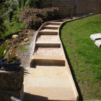 Escalier avec dalles grés Madère